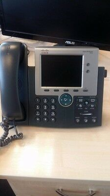 Cisco Unified IP Phone CP-7945G VoIP with handset and stand