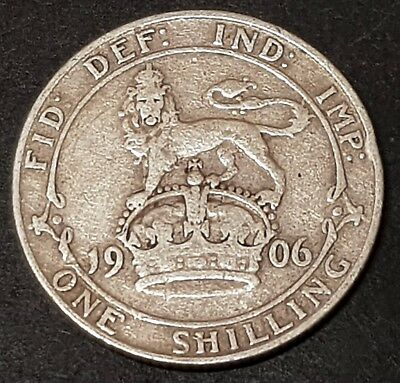1902 King Edward VII Silver One Shilling