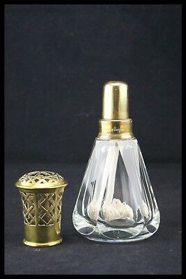 Baccarat Pyramid Model Berger Lamp Clear Cut Crystal Catalytic Flagrance France