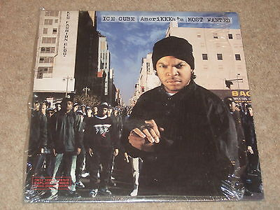 Ice Cube ‎– AmeriKKKa's Most Wanted LP  1990   GANGSTA!!   EX CON!!   RARE!!