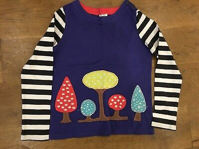 MINI BODEN appliqué long sleeved T shirt / top 100% cotton Age 9-10 years