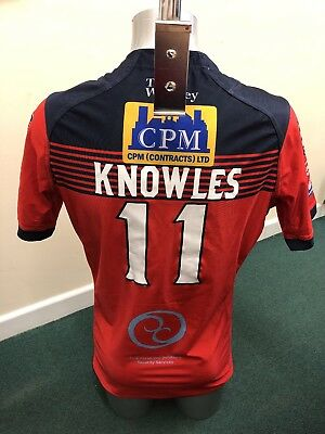Match Worn Featherstone Rovers 2017 Away Shirt (Michael Knowles) Size Large