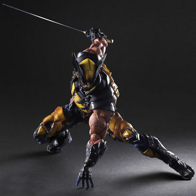 Marvel Play Arts Kai X-Men Wolverine Action Figure Toy Model Statue Collectible