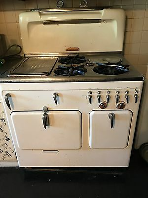 Antique Chambers Stove- Gas - White - good working condition