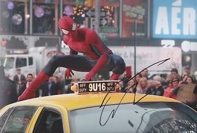 ANDREW GARFIELD 1 Spiderman Foto 20x30 original IN PERSON signiert Autograph RAR