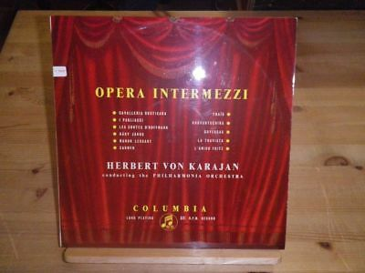 "HERBERT VON KARAJAN: Opera Intermezzi, COLUMBIA 1265, UK, 12""/LP"