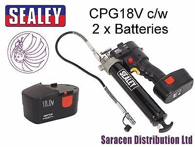 Sealey Cpg18V Cordless Grease Gun 18V Complete With 2 X Batteries