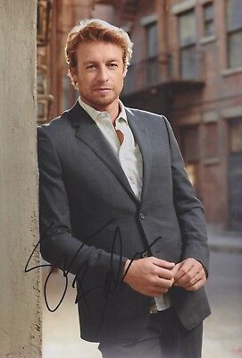 SIMON BAKER The Mentalist Foto 20x30 original IN PERSON signiert Autograph SAT.1