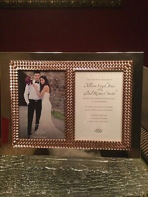 """Lenox Picture Frame, Bliss Double Invitation 5"""" x 7"""" Aegean Rose Nwob"""
