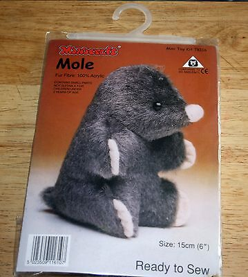 Mole soft toy sewing kit.