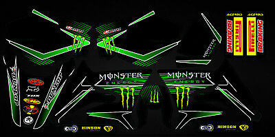Kit Déco Moto pour / Mx Decal Kit For Yamaha DT 50 - Monster 2