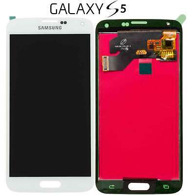 LCD DISPLAY TOUCH SCREEN Per SAMSUNG Galaxy S5 G900F BIANCO VETRO SCHERMO