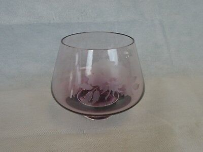 Caithness Art Glass Rose Bowl Etched