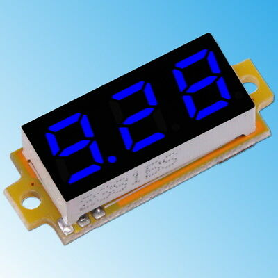 "0-10V DC Voltometro 3-Cavi Blu Digitale 0.28"" LED Mini Display da Panello Tester"