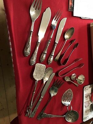 Mixed Job Lot Of Vintage Teaspoon & Other Cutlery Items,silver Plate/epns