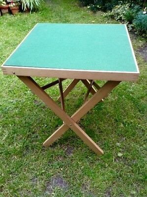Card Table, Pinewood with Green Baize