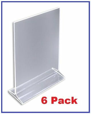 "Pack of 6 ChefLand 5"" x 7"" Acrylic Sign Holder / Clear Table Card Display / P..."