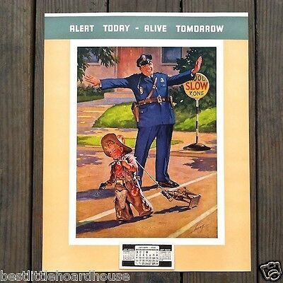 Original UNTO THE LEAST OF THESE Promotional Policeman Calendar 1950s Full Pad