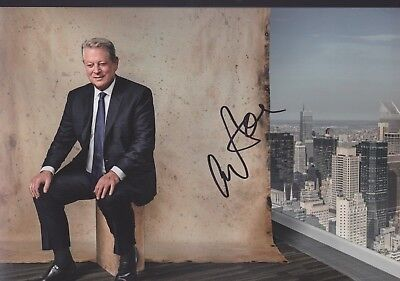 AL GORE US Foto 20x30 8x12 original Autogramm IN PERSON signiert Autograph RAR
