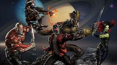 GUARDIANS OF THE GALAXY ILLUSTRATION COMIC 11x17 MINI MOVIE POSTERS COLLECTIBLE