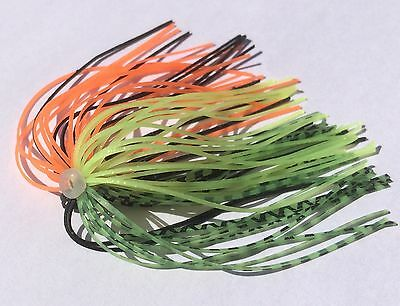 Bulk lot of 100 Spinnerbait Quick Skirts Fire Tiger