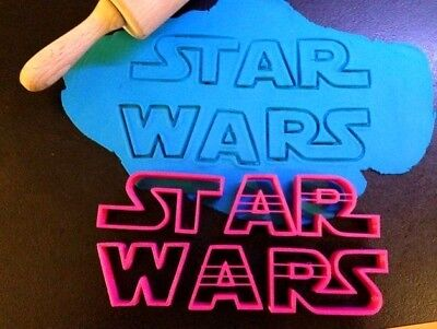 Logo Star Wars Plastic Biscuit Cookie Cutter Fondant Cake Decor Play Doh Shape