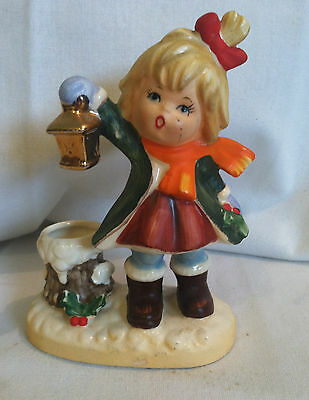 Napco Girl Holiday Candleholder #8368