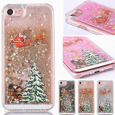 Christmas Tree Glitter Bling Shiny Phone Case Cover For iPhone 6S 6 Plus 7 Plus
