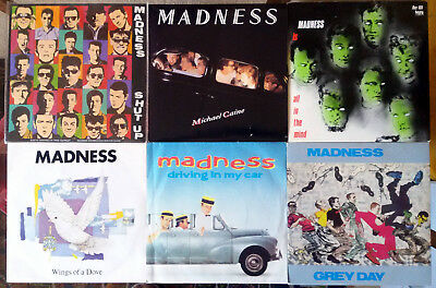 """Madness - 11 7"""" Singles. Picture Sleeves. All in very good condition."""