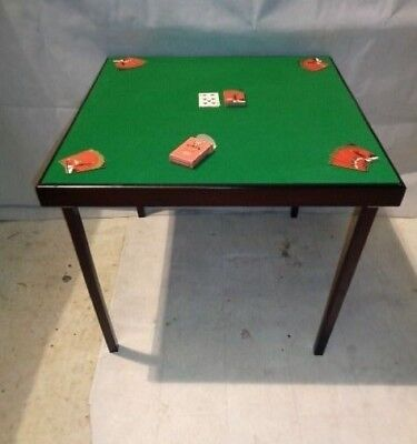 Modern Foldable Bridge Table Mahogany Gaming Table Occassional Table