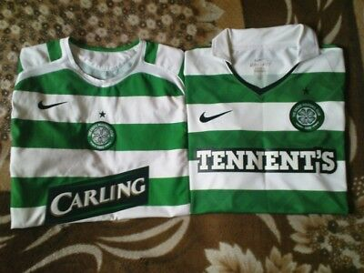 Two Football Shirt - Celtic Glasgow Home 2005 - 2007 & 2010 - 2012 Size M