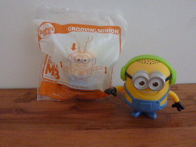 McDonalds Despicable Me 3 Happy Meal MINIONS toy ** GROOVIN MINION **