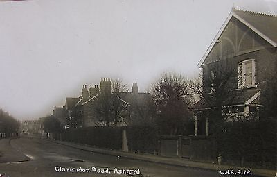 CLARENDON ROAD ASHFORD MIDDLESEX EARLY WHA RP PC No4172