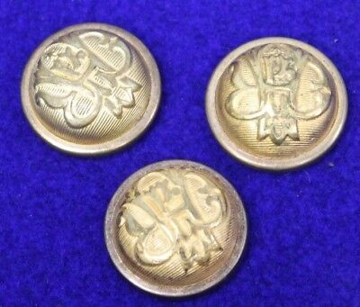 Collection of 3 GAR button covers (Grand Army of The Republic )