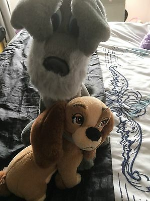 Lady And The Tramp Soft Toys 14 Inch And 9 Inch