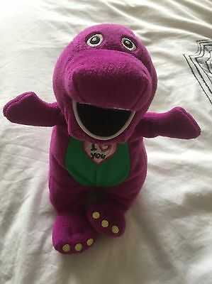 Barney Purple Dinosaur Soft Toy Sings I Love You