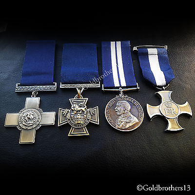 Royal Navy Medals Set George Cross , Victoria Cross DSC & DSM Gallantry RN Copy