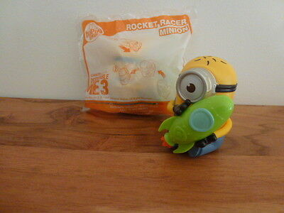 McDonalds Despicable Me 3 Happy Meal MINIONS toy ** ROCKET RACER MINION **