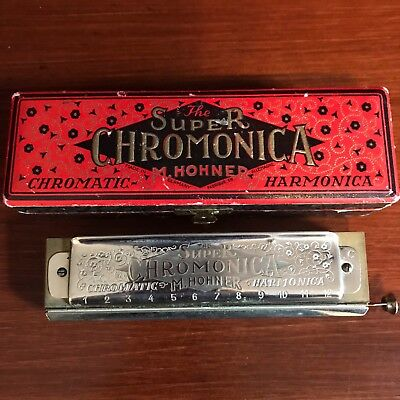 Vintage Super Chromonica Harmonica M Hohner in Box Germany