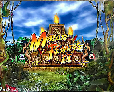 Serigrafia superiore Slot Machine comma 6 Mayan Temple II