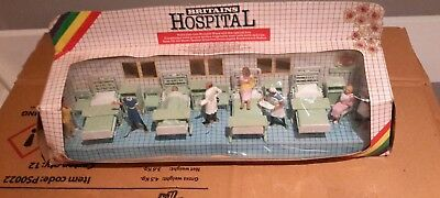 BRITAINS 3 Hospital sets, box damage. Set 7857 has a missing head on the sister.