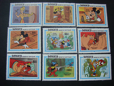 Mongolia 1984 Walt Disney Micky & the Beanstalk Set of 9 SG1615-23 MH see scans