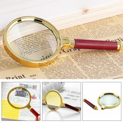 15X Large 60mm Handheld Magnifier Reading Magnifying Glass Lens Jewelry Loupe UK