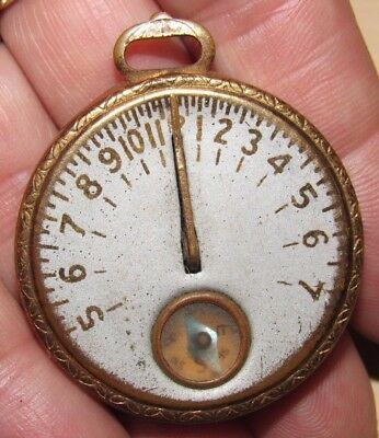 Antique Vintage 1920's Pocket Sundial Compass Egyptian Images Signed Robbins Co