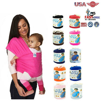 Original Moby Wrap Infant Baby Carrier Sling Top Cotton Breathable< 3 years old