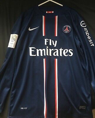 David Beckham PSG Shirt Nike Official Size Medium