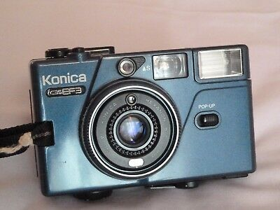 KONICA  C35EF3 (BLUE EDITION) COMPACT 35mm CAMERA