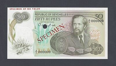 Seychelles 50 Rupees  ND(1977) P21s Specimen Uncirculated