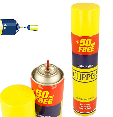 1 X Clipper Universal High Quality Butane Gas Lighter Refill Fluid 300ml Fuel