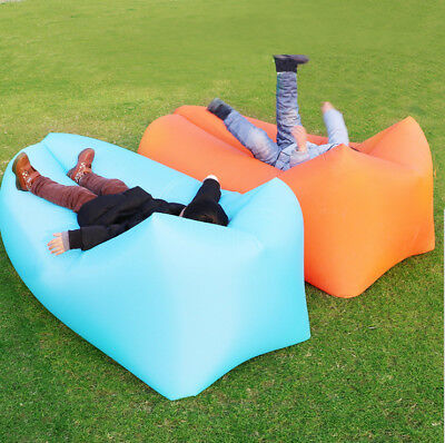 Travel Lazy Sofa 210D Oxford Fast Air Inflatable Sleeping Lay Bed Lounger